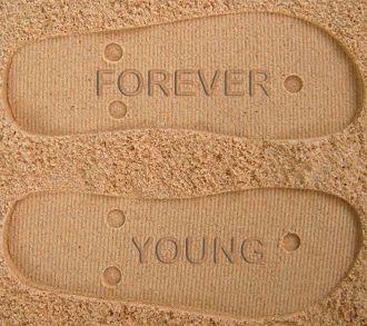 Forever Young Custom Sand Imprint Flip Flops