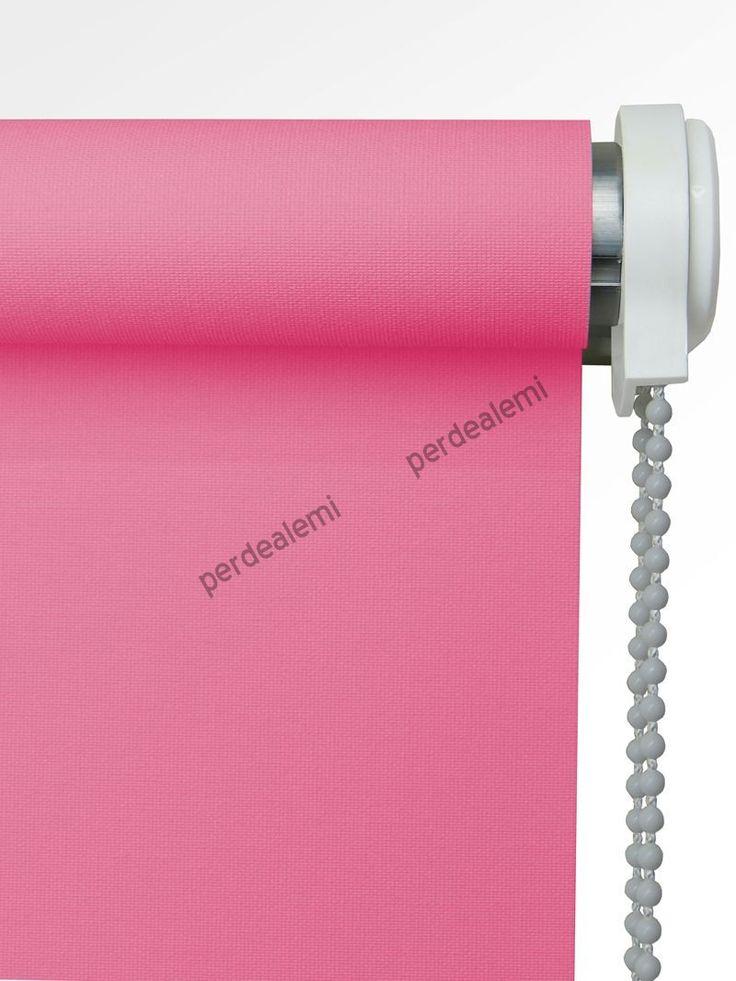 Brillant Mat Polyester Stor Perde (Pembe 5270) | Perdealemi.com