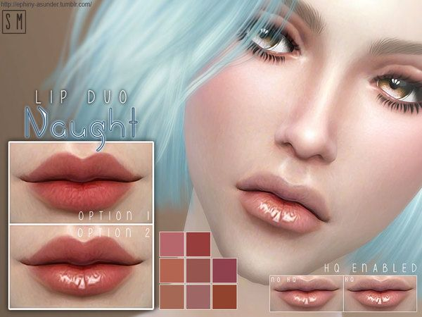 The Sims Resource: Naught  - Duo Lip Colour by Screaming Mustard • Sims 4 Downloads