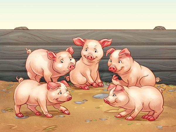 Little Piglets Illustration