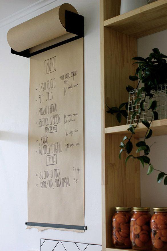 Créer un paperboard pour le bureau avec un rouleau de kraft et une barre aimantée