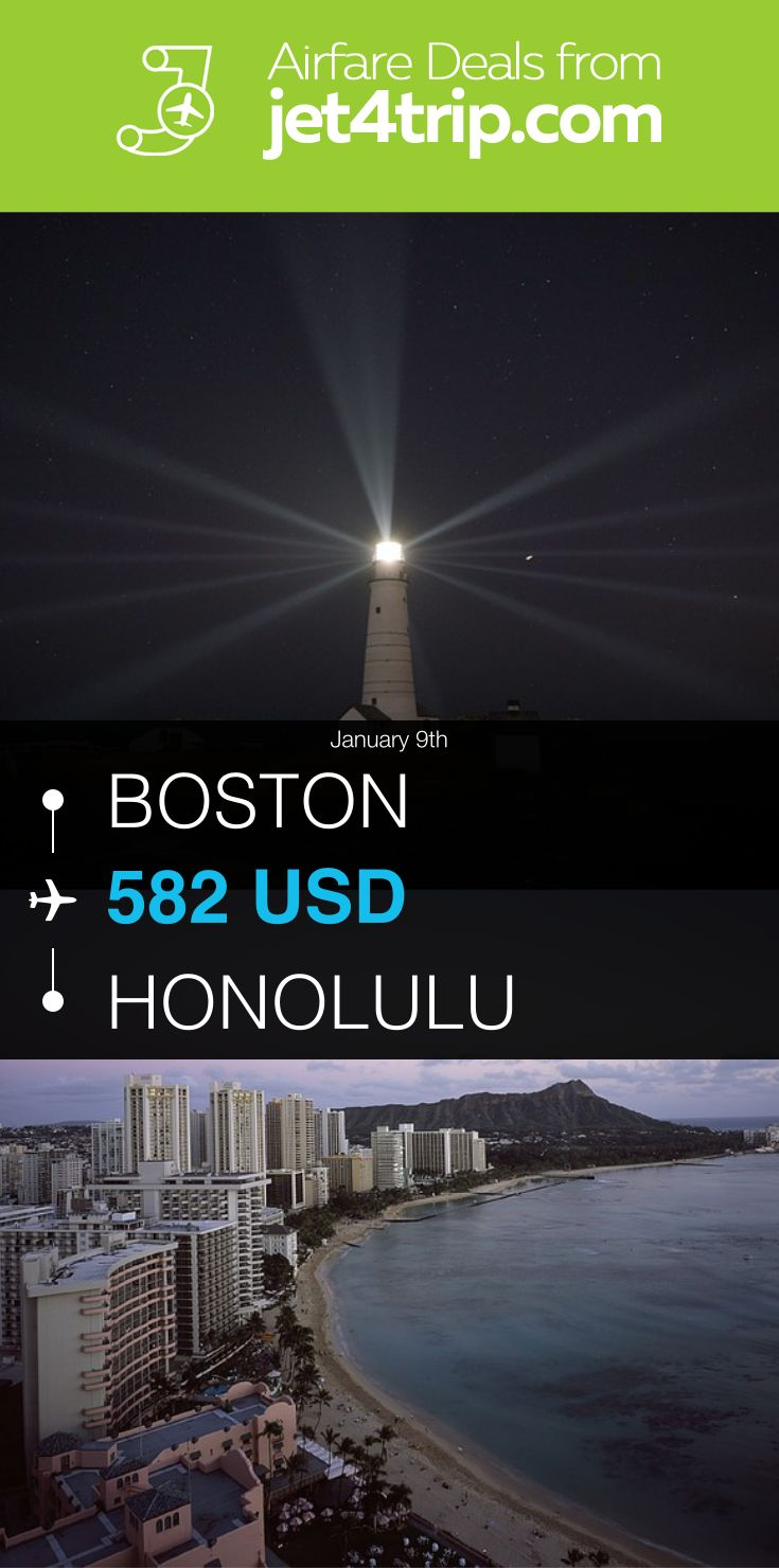 Flight from boston to honolulu for 582 by american
