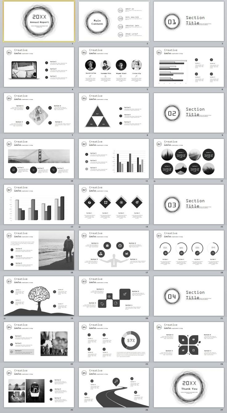 27+ gray annual report slides powerpoint templates