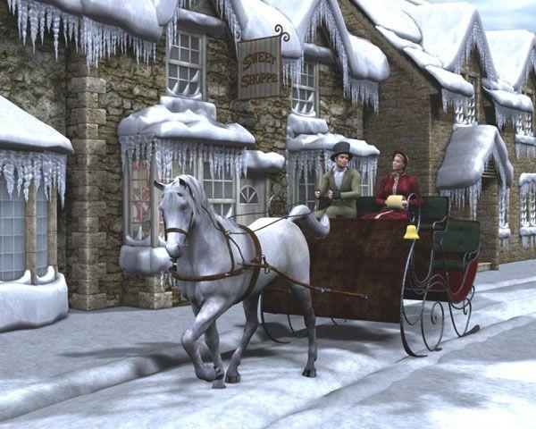 Enjoy romantic horse-drawn sleigh rides |Horse Drawn Sleigh Rides Christmas