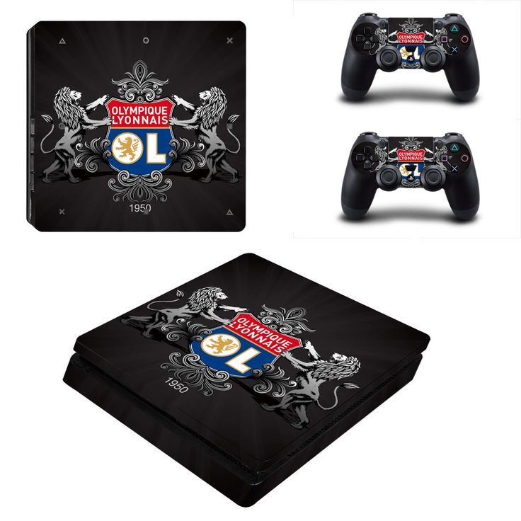 Olympique Lyonnais ps4 slim skin decal for console and 2 controllers
