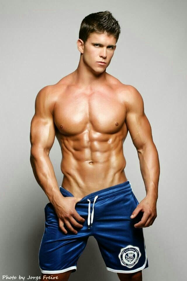 Young hunk with six pack abs that