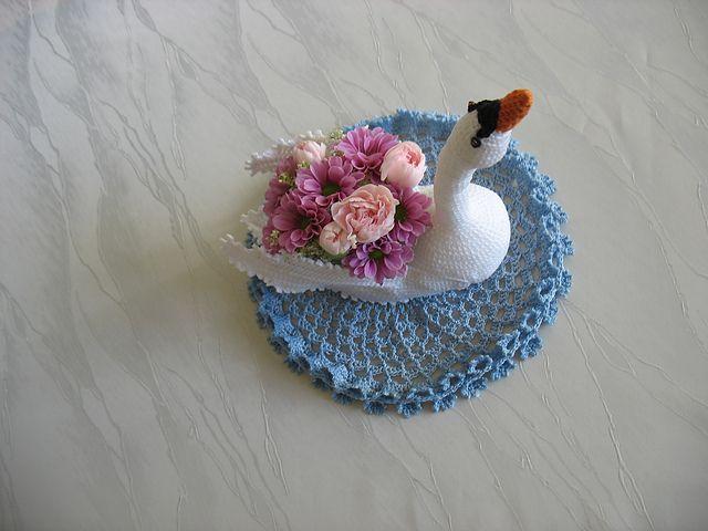 Ravelry: virkkaaja's swan doily