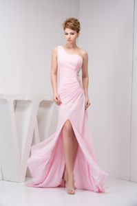 Alaska One Shoulder Military Ball Gown with an Asymmetrical Court Train