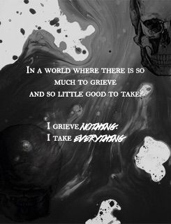 Grieve nothing in this transitory world.
