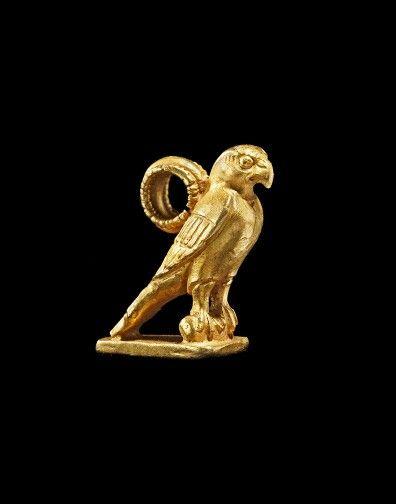 Gold sheet pendant in the shape of a hawk. Greek. 6th - 5th century B.C. | Phoenix Ancient Art Gallery