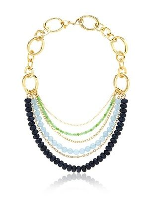 69% OFF Cristina V. Shades of Blue Statement Necklace
