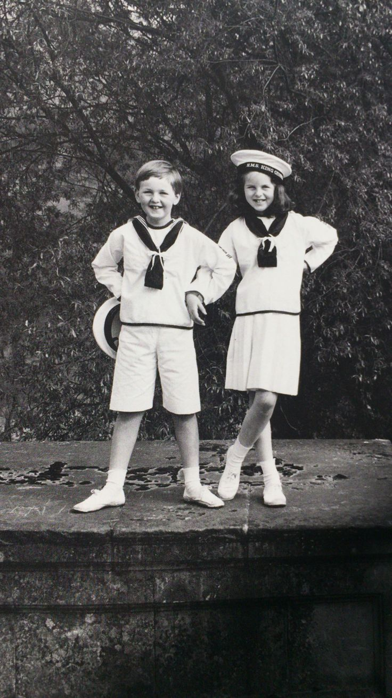 Marine boy and girl