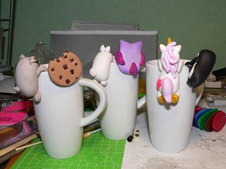 Polymer clay tea bag holders