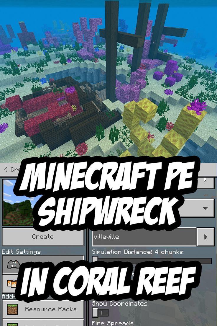 Minecraft PE/Bedrock Edition Shipwreck Seed villeville