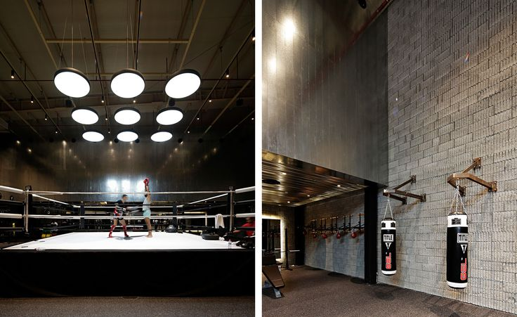 The Burrow in Kuwait features Modular Lighting Instruments' Flat moon and is one of the finest gyms around the globe!