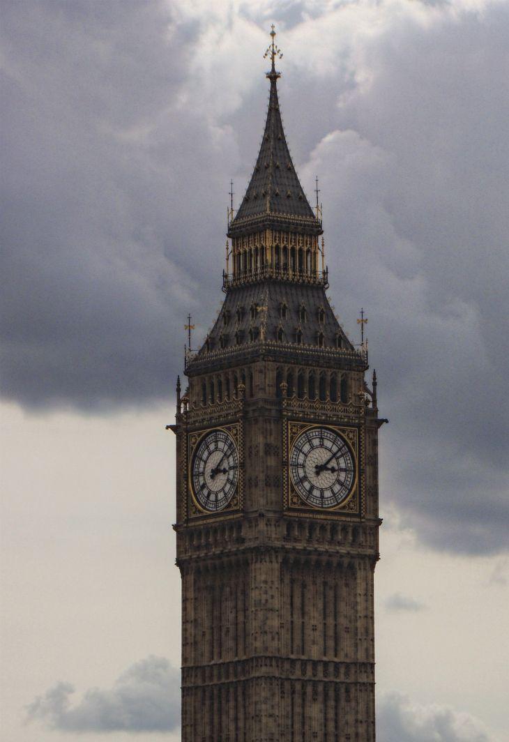 ロンドンの写真:ウェストミンスター宮殿(国会議事堂)の時計塔