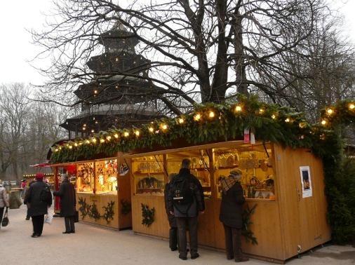 Romantischer Weihnachtsmarkt am Chinesischen Turm #Muenchen