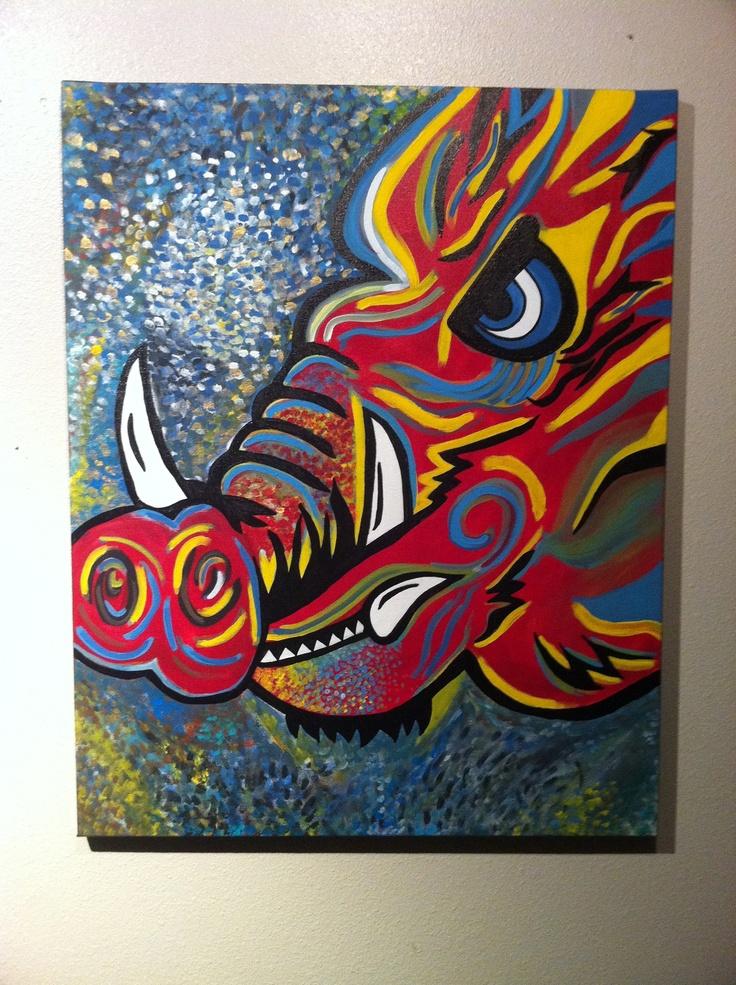 Razorback I painted
