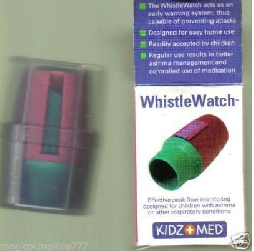 1 Pocket Size Whistle Watch ASTHMA Peak Flow Monitor, by KIDZ MED, for Children #ad