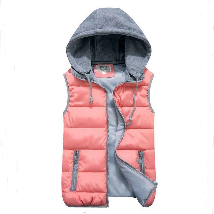 女性の綿ウールの襟フード付きダウンベスト取り外し可能な帽子ホット高品質ブランド新しい女性冬暖かいジャケット&を厚く上着