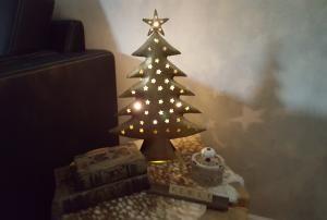 Hand gemaakte metalen kerstboompje oud goud 40 cm - 8719323051195 - Avantius