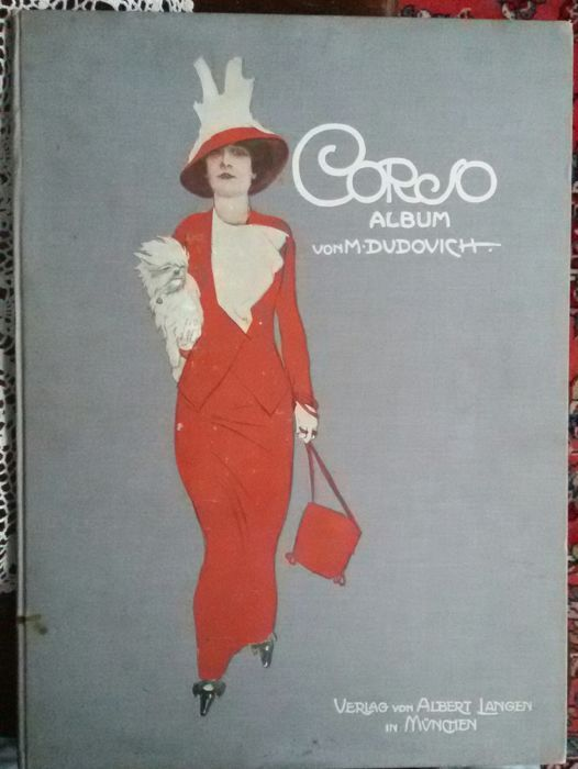 """Attualmente nelle aste di #Catawiki: MARCELLO DUDOVICH  - """"Album Corso"""" - opere originale 1910 - 32 tavole a color..."""