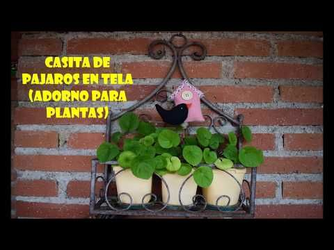 Casita de pájaros de tela (adorno para plantas) - YouTube
