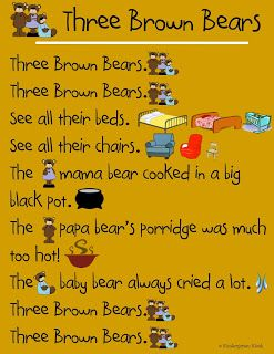 Three Bears poem