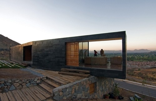 via mydesignfix.files.wordpress.com: House Design, Architects, Open Spaces, Stones Wall, The View, Desert Home, Gardens Spaces, Architecture, Stones House