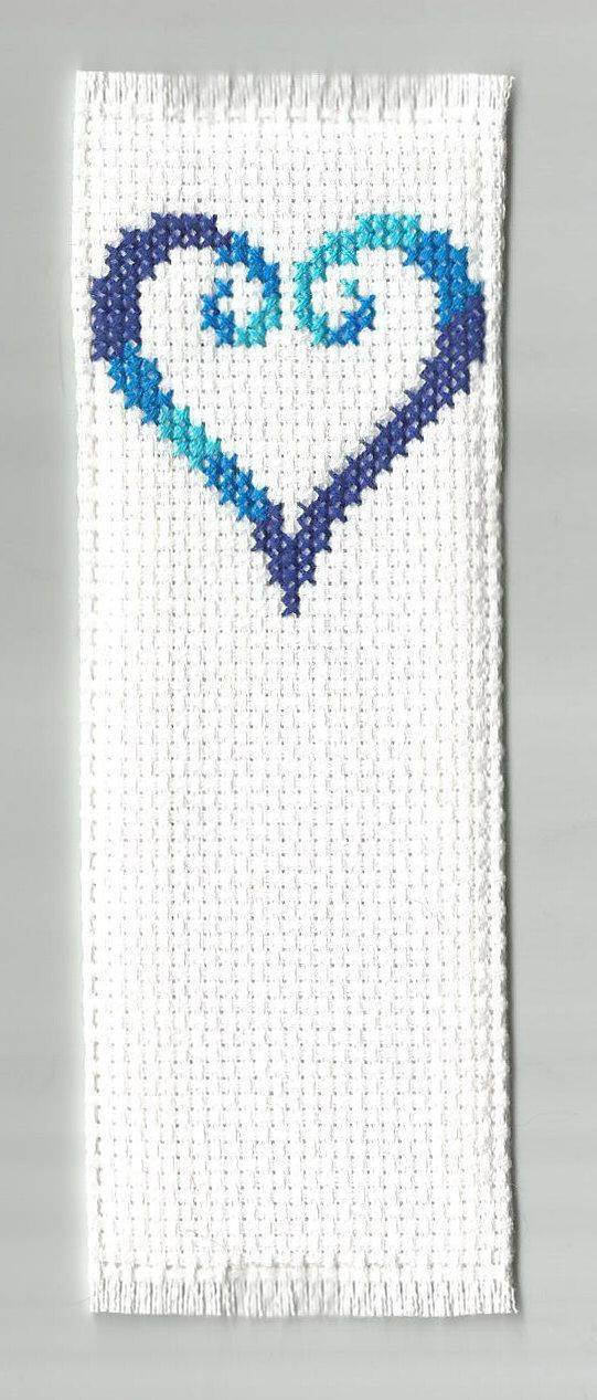 2 Tone Heart Cross Stitch