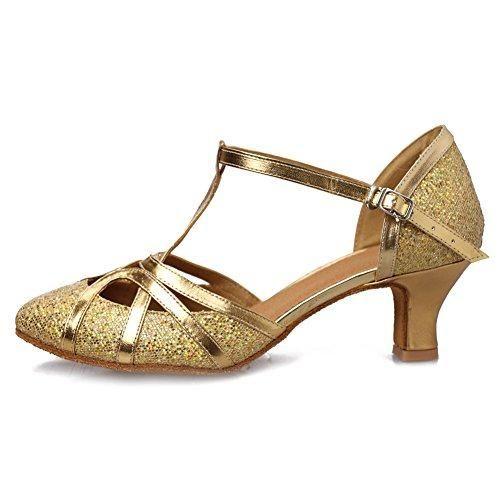 Oferta: 25.99€ Dto: -27%. Comprar Ofertas de HROYL Zapatos de baile/Zapatos latinos de el plateado satín mujeres EC5-F11 EU 38 barato. ¡Mira las ofertas!