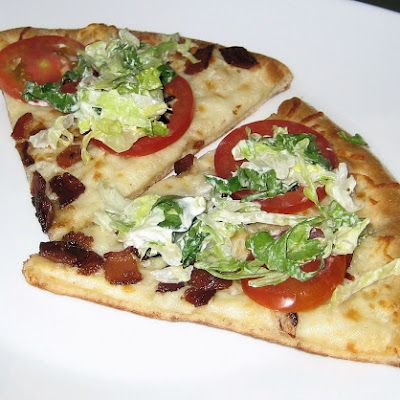 BLT+Pizza+from+California+Pizza+Kitchen's+recipe+book+@keyingredient+#cheese+#recipes+#bacon+#honey+#tomatoes+#casserole+#bread