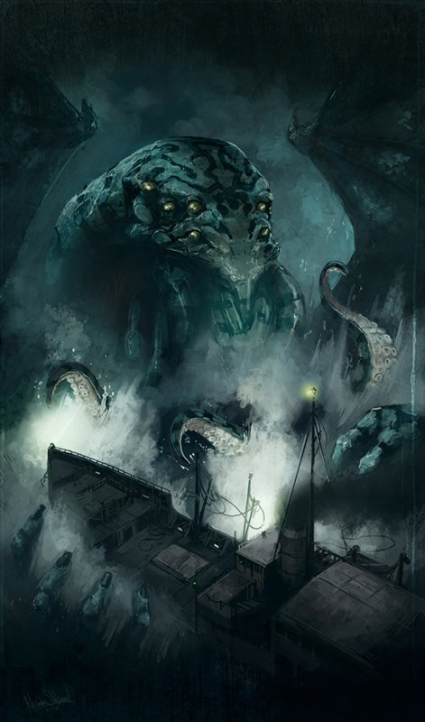 Cthulhu From The Depths. Its Fingers Curl About The Craft.