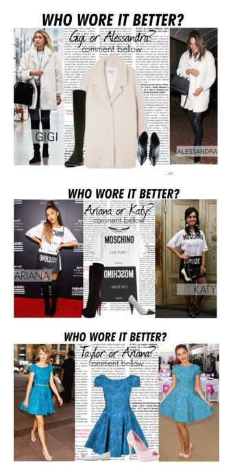 """Who wore it better?"" by lidage on Polyvore. Be sure to check my collection out! It dosn't have much in it now but it's growing!!!"