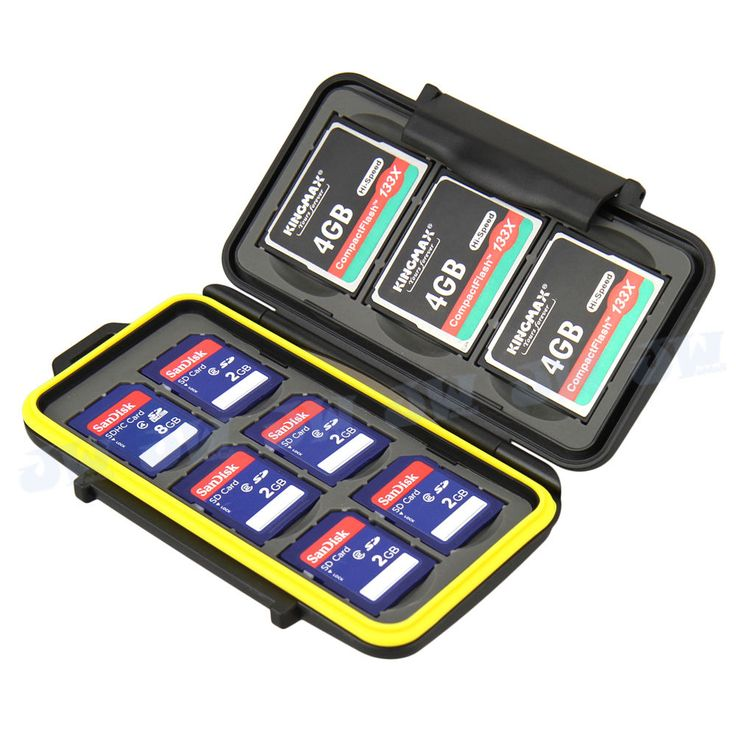 JJC Water-resistant Holder Storage Memory Card Case Protectors Cover For 6SD 3CF #JJC