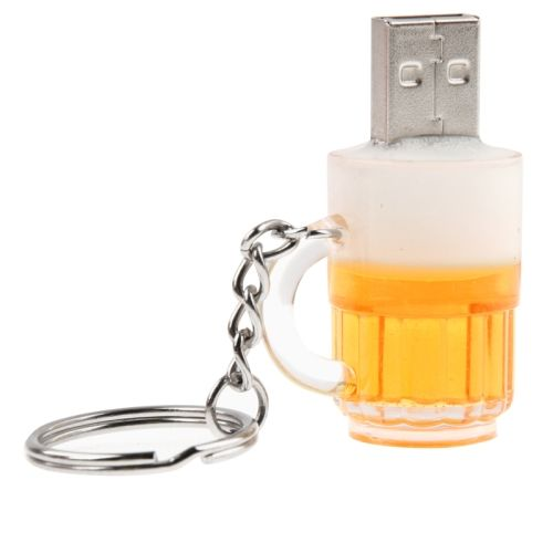 [USD14.11] [EUR12.63] [GBP10.19] Beer Keychain Style USB Flash Disk with 32GB Memory