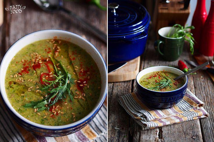 Кабачковый суп с рукколой и чечевицей (Готовлю в чугуне ...
