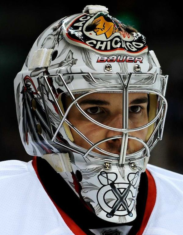 corey crawford's helmet | Corey Crawford's Chicago Blackhawks Helmet