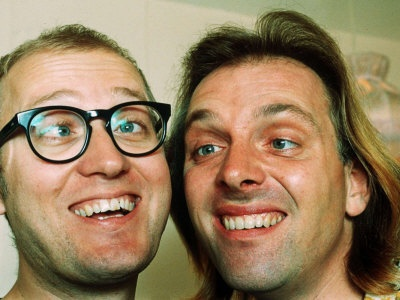 Comedians Rik Mayall and Adrian Edmondson Photographic Print