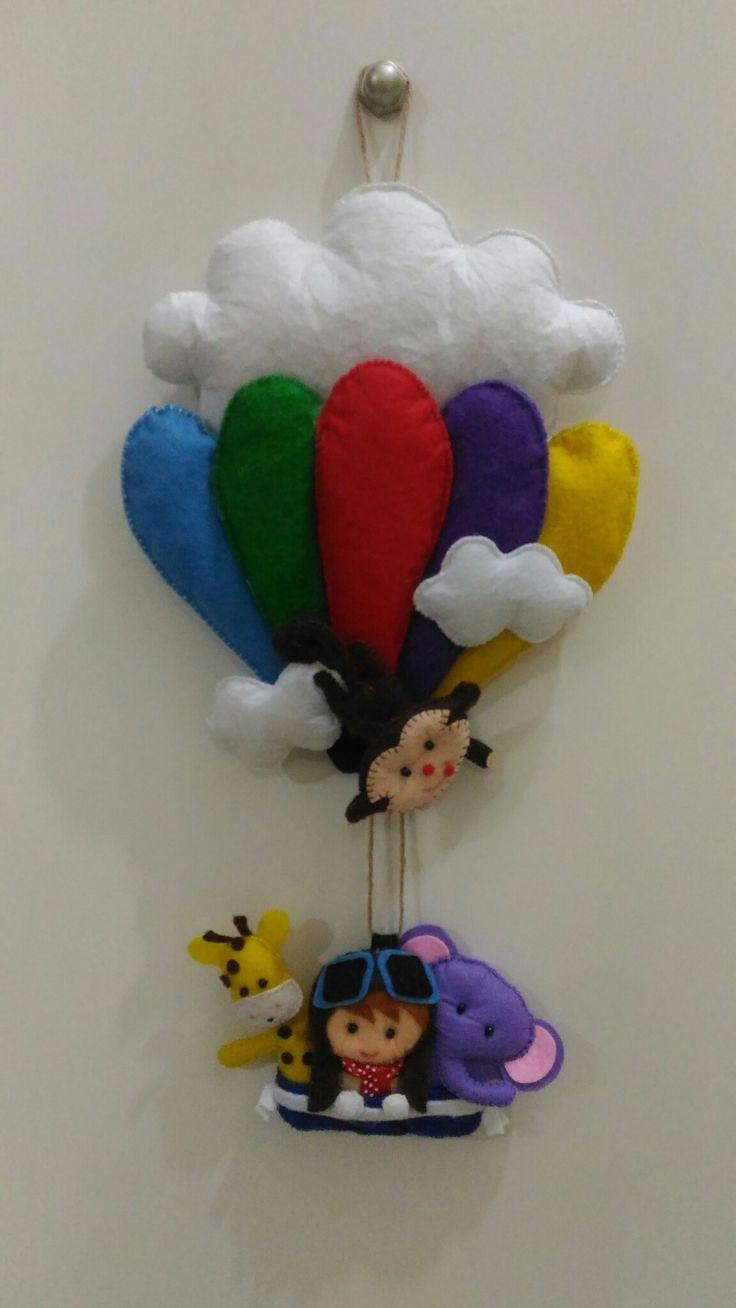 Keçe Eğlenceli Balon Kapı Süsü