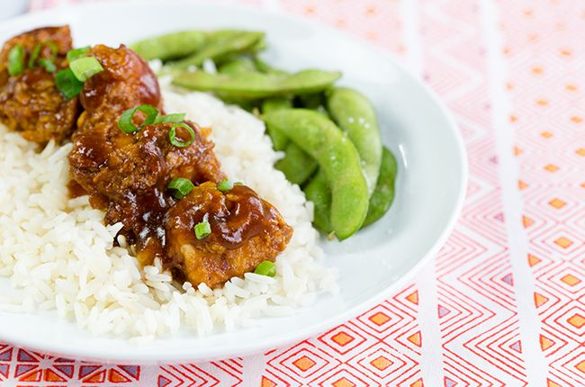 Lightened-Up General Tso's Chicken