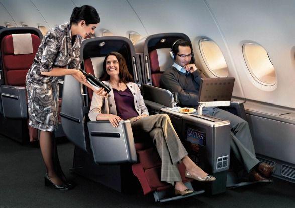 Business Class, Qantas A380.