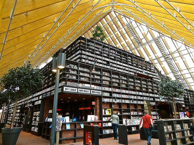 Book Mountain Library, Spijkenisse, The Netherlands