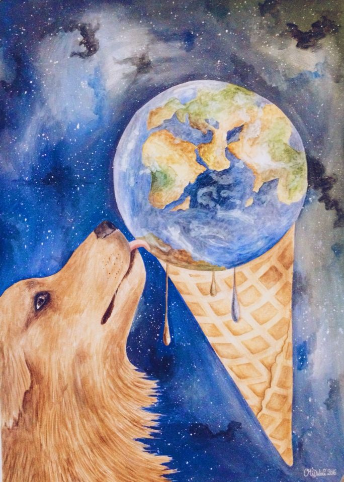 """""""With Earth flavor"""" - watercolor art"""