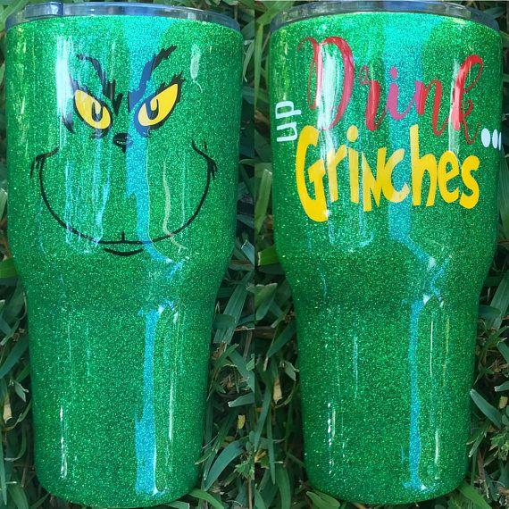 111f0bbc528 Yeti/RTIC/30oz/The Grinch/Custom/Glitter/Tumbler/Christmas #GlitterGlasses