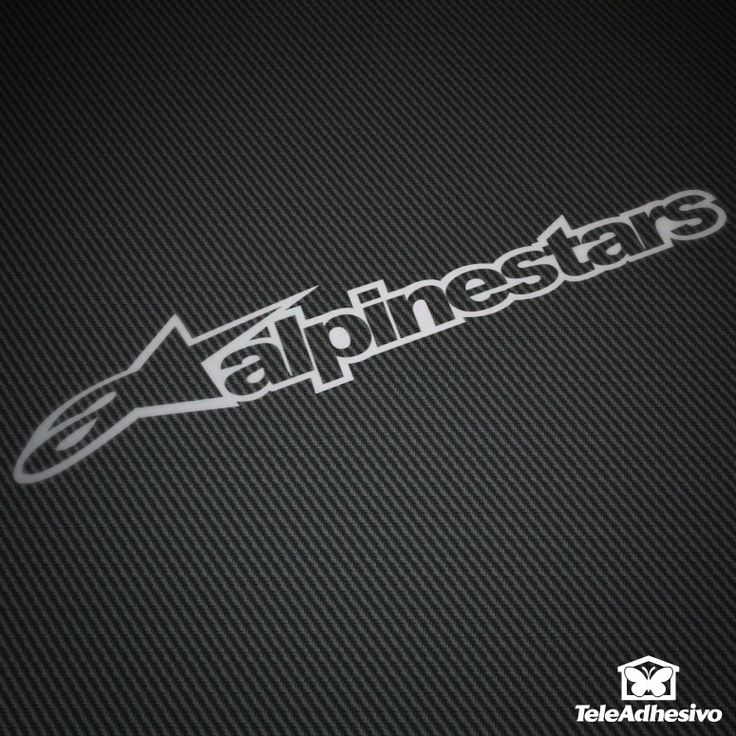 Pegatina Alpinestars #alpinestars #pegatina #adhesivo #tuning #moto #TeleAdhesivo