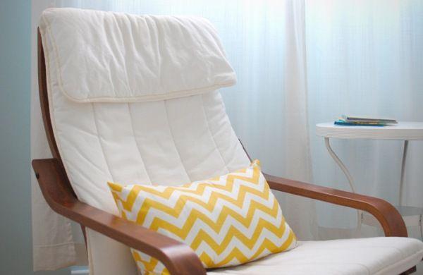 poltrona de amamentação madeira acolchoada / comfy breastfeeding wooden chair