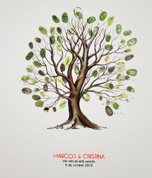 Original. De 130 a 200 invitados Cuadro de huellas / Árbol de huellas www.emporioalberi.com