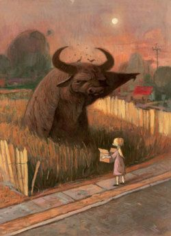 Shaun Tan:  'water buffaloes are like that; they hate talking.'