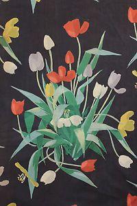 Vintage French designer curtain fabric c1950's Suzanne Fontan Paris curtain | eBay